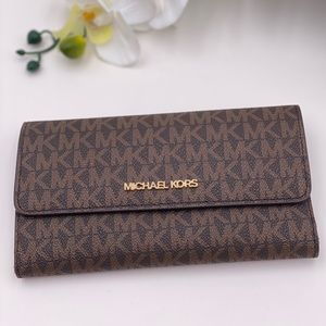 Michael Kors Trifold Wallet Signature Brown